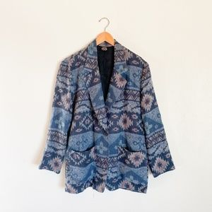 Vintage 90's Southwestern Blanket Blazer